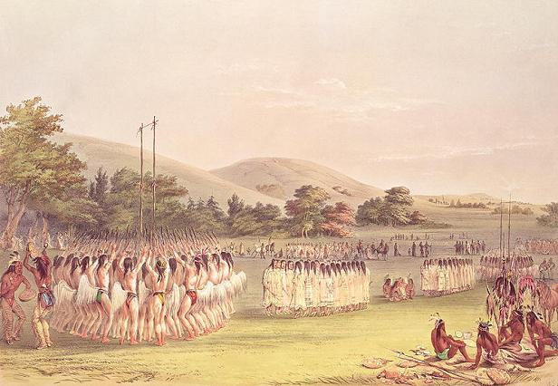 Танец американских индейцев
