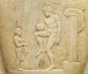 Футбол у давнину