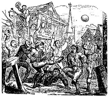 Футбол в средневековье