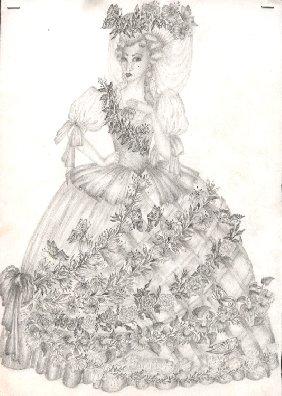 Французская женщина 18-го века