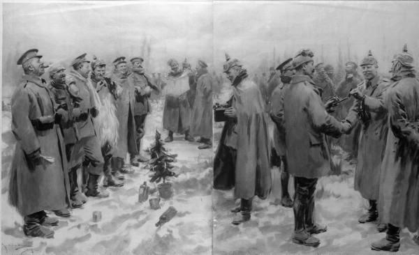 Рождество в окопах 1914 года