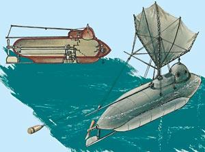 перший підводний човен