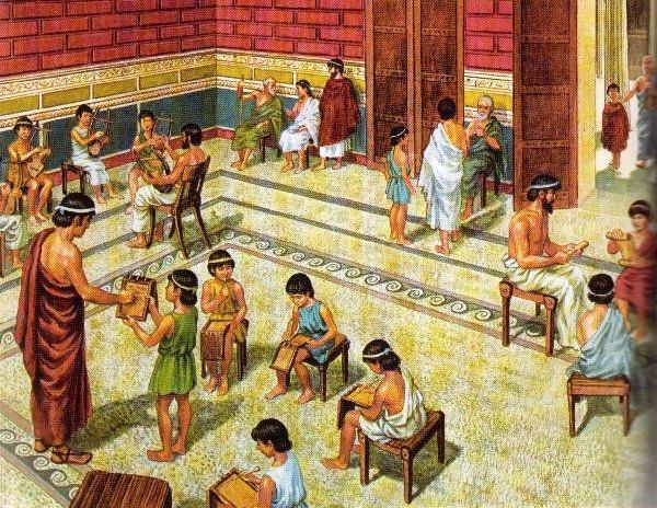 школа в древней Греции
