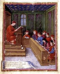 Школа в средние века