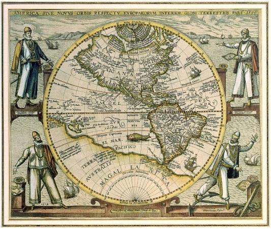 Карта Теодора де Брая