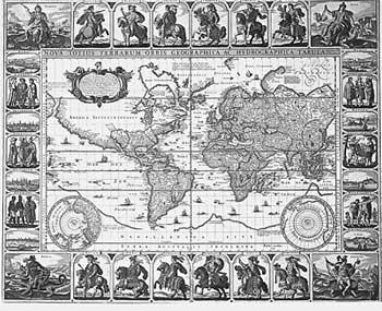 Карта мира Висшера