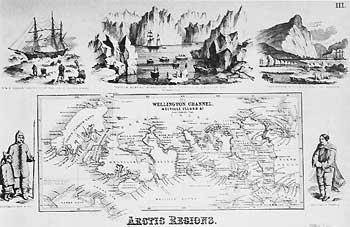 Карта районов Арктики, изданная в 1856 году