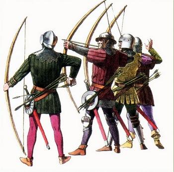 средневековые лучники