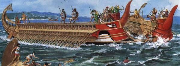 корабли древних греков