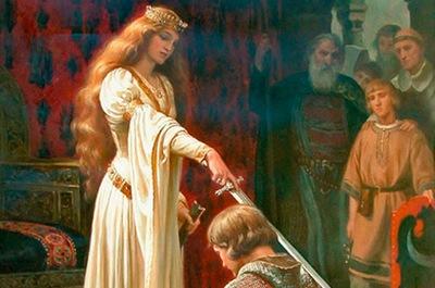 женщина в средние века