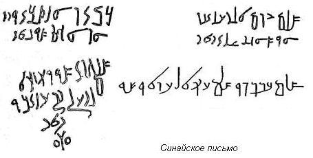синайские надписи