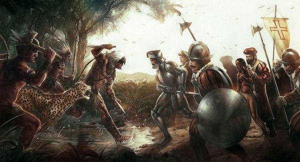 индейцы майя и конкистадоры