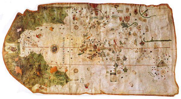 Карта Хуана де Лакоса