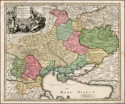 Украина на старинной карте