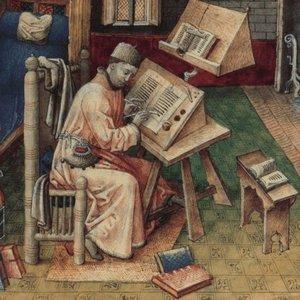 средневековый писец