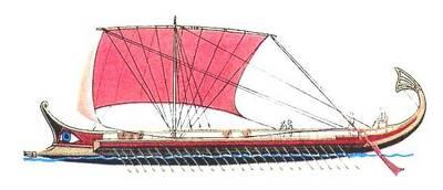 Корабль античных времен