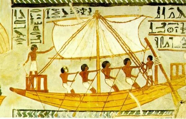 Корабль в древнем Египте