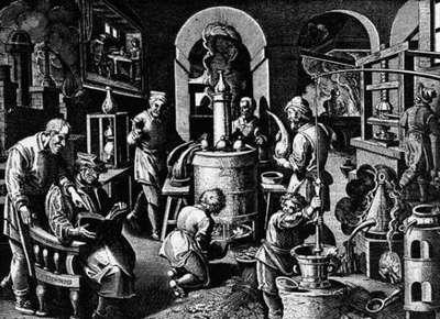 средневековая лаборатория