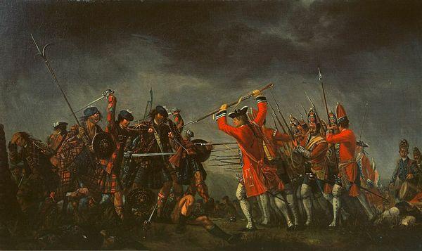 Шотландские горцы в бою