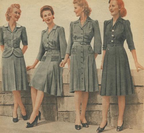 мода 40-х годов фото