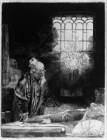 Фауст на гравюрі Рембрандта