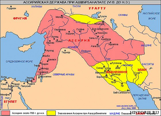 Карта стародавньої Ассирії