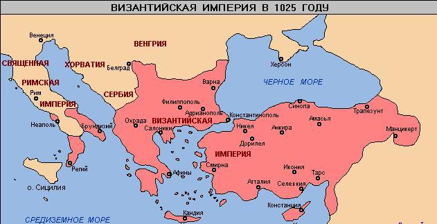 Византия на карте