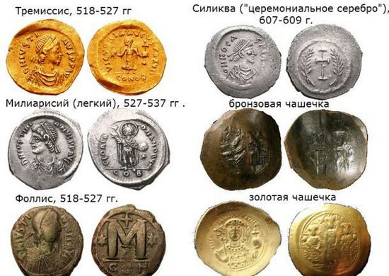 монеты в Византийской империи