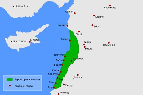 Карта Фінікії