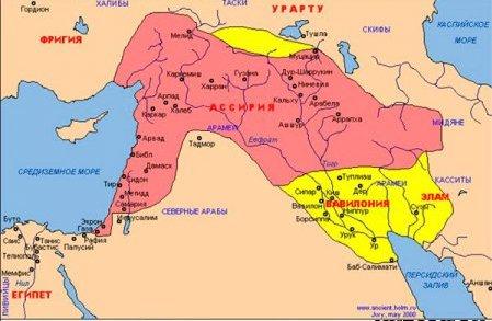 Карта вавилонсого царства