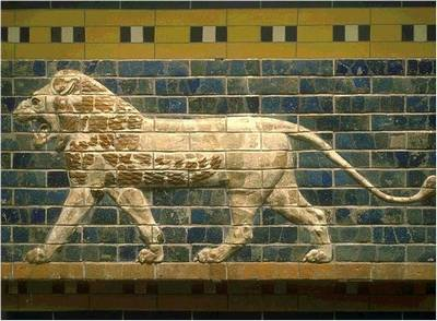 львы на воротах Иштар