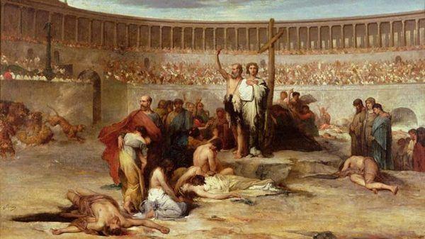Христиане на арене Коллизея