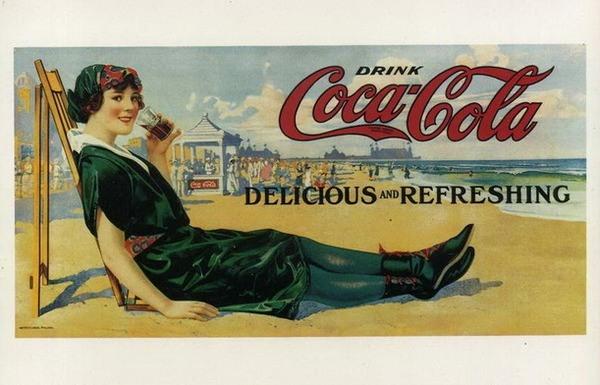 Старая реклама кока-колы