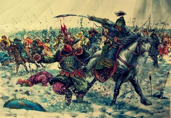 тяжелая конница монголов