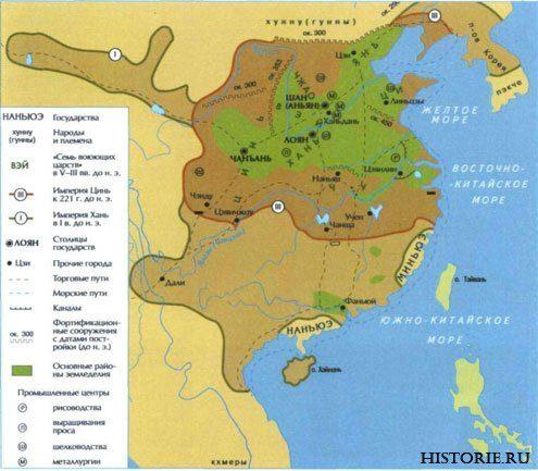 Карта стародавнього Китаю