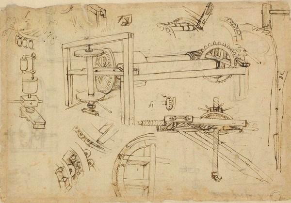 чертежы Леонардо да Винчи
