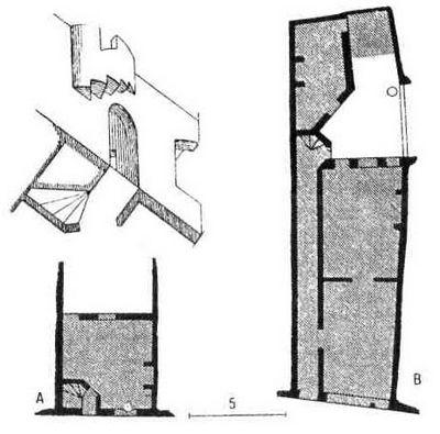 Схема средневекового дома