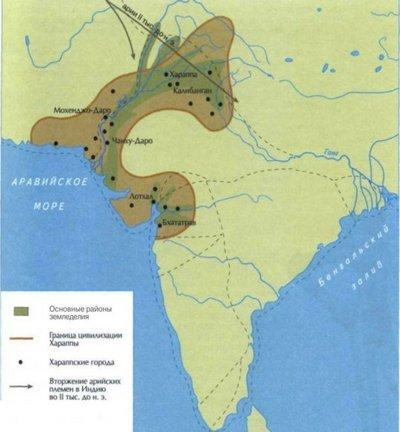Карта стародавньої Індії