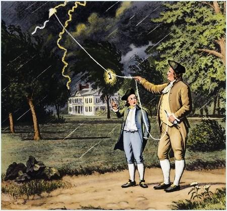 франклин и молния