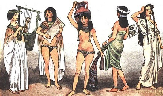 Женская одежда древнего Египта