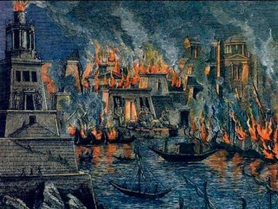пожар в александрийской библиотеке