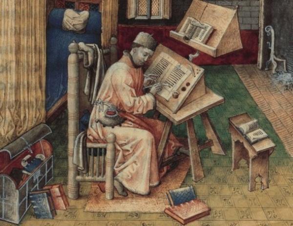 средневековый писарь