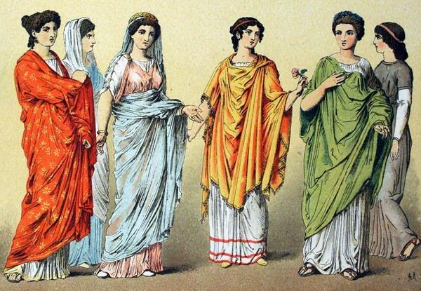 Одежда женщин в древнем Риме