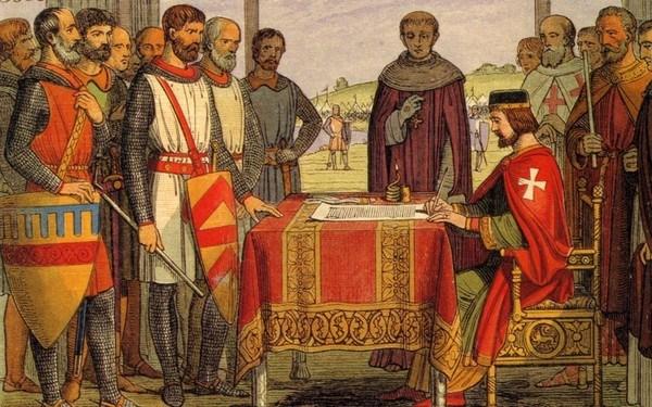 подписание великой хартии вольностей