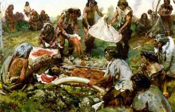 Похорон первісної людини