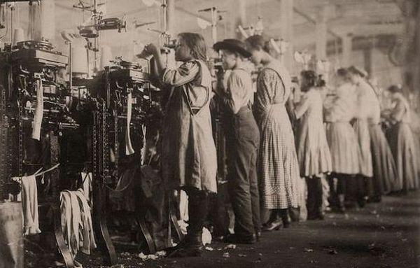 дети на фабрике