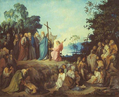 Андрій Первозванний ставить хрест на київських пагорбах, картина Миколи Ломтєва