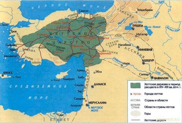 Територія проживання древніх хеттів