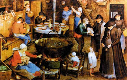 Отопление в средние века