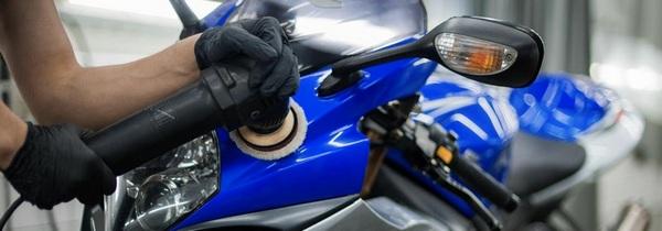 Царапина на мотоцикле